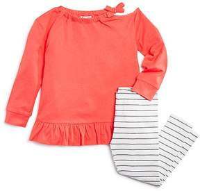 Splendid Girls' Distressed Long-Sleeve Tee & Striped Leggings Set - Little Kid