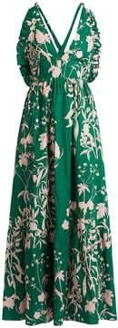 DAY Birger et Mikkelsen BORGO DE NOR Violeta Weed-print halterneck maxi dress