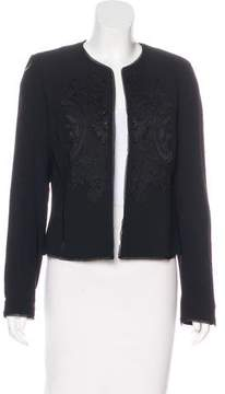 Ellen Tracy Linda Allard Lace-Accented Tailored Jacket