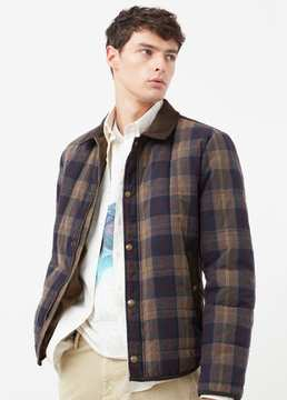 Mango Outlet Check quilted jacket