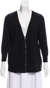 Tahari Contrasted Zip Front Cardigan w/ Tags