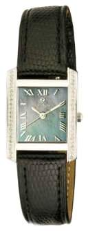 Croton Ladies Swiss Quartz Diamond Case Watch with Black Moher of Pearl Dial