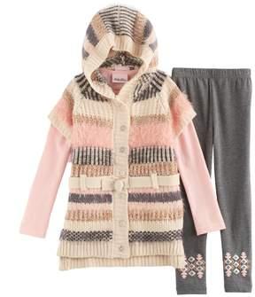 Little Lass Girls 4-6x Striped Sweater