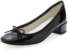 Repetto Women's Camille Ballerina Patent Leather Block Heel Pump