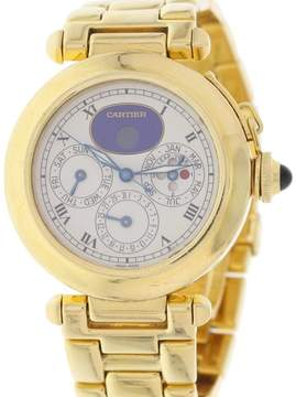 Cartier Pasha 30003 Perpetual Calendar 18K Yellow Gold Automatic 38mm Mens Watch
