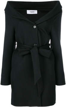 Chalayan open neck belted dress