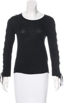 White + Warren Knit Long Sleeve Top\
