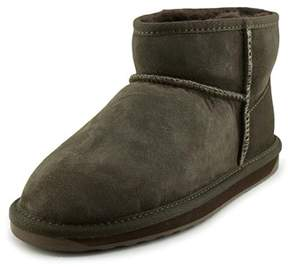 Emu Stinger Micro Women Round Toe Suede Brown Snow Boot.