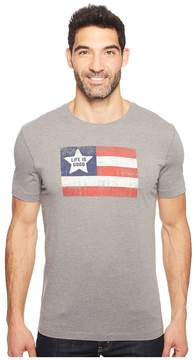 Life is Good Flag Cool Tee Men's T Shirt