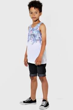 boohoo Boys Tropical Palm Print Sublimation Vest