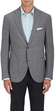 Luciano Barbera Men's Wool Hopsack Two-Button Sportcoat