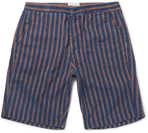 Oliver Spencer Striped Cotton-Jacquard Shorts