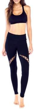 Electric Yoga Twisted Crisscross Cutout Leggings