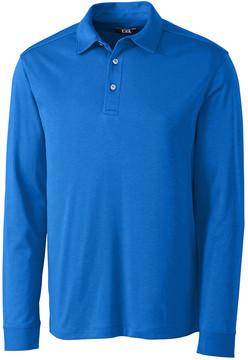 Cutter & Buck Blue Belfair Long-Sleeve Polo - Men