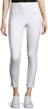 ATM Anthony Thomas Melillo Cropped Stretch Twill High-Rise Pants