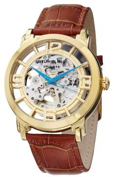 Stuhrling Original Winchester 165B2.3335K31 Gold-Tone Stainless Steel & Leather 44mm Watch