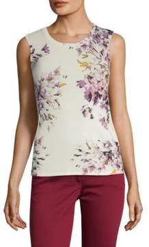 Escada Sedita Floral-Print Knit Tank Top