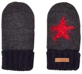 Barts Grey and Black Star Milkyway Mittens