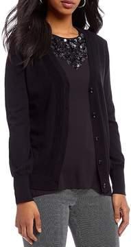 Isaac Mizrahi Imnyc IMNYC Lace Back Cardigan