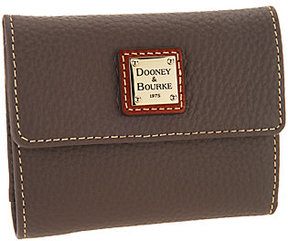 Dooney & Bourke As Is Pebble Leather Credit Card Wallet - ONE COLOR - STYLE