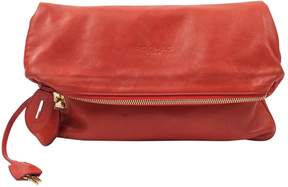 Rochas Red Leather Clutch Bag