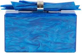 Edie Parker Blue Plastic Clutch Bag