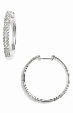 Bony Levy Women's Kiera Medium Diamond Hoop Earrings (Nordstrom Exclusive)