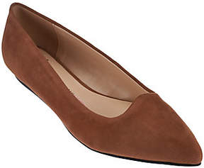 Isaac Mizrahi Live! Suede Pointed ToeBallet Flats