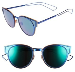 Christian Dior Women's Sculpts 53Mm Cat Eye Sunglasses - Shiny Blue