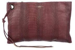 Lanvin Embossed Zip Clutch