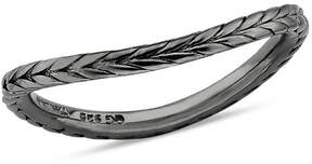 Zales Stackable Expressionsa 1.5mm Braided Wave Band in Sterling Silver with Black Ruthenium