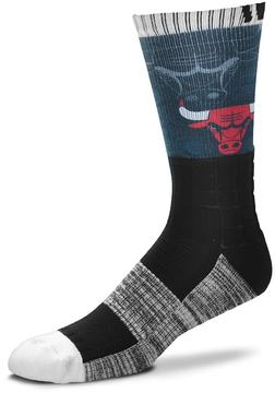 For Bare Feet Adult Chicago Bulls Blackout Socks