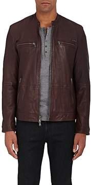 John Varvatos Men's Leather Racing Jacket
