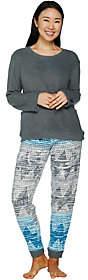 Cuddl Duds Petite Stretch Fleece NoveltyPajama Set
