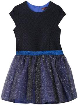 Catimini Crewneck Glittered Dress