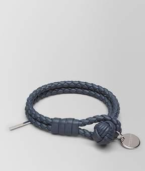 Bottega Veneta Bracelet In Denim Intrecciato Nappa Leather