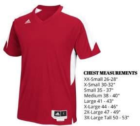 adidas Men's Commander 15 Shooter Basketball Shirt (Power Red/White, Medium)