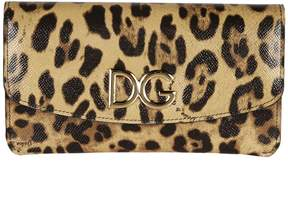 Dolce & Gabbana Leopard Print Continental Wallet - BROWN/BLACK - STYLE