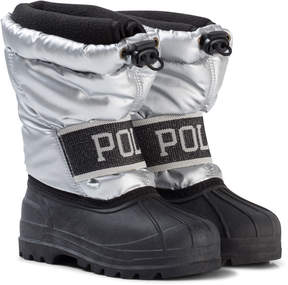 Ralph Lauren Silver and Black Jakson Winter Boots