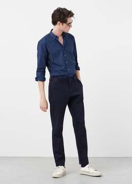 Mango Outlet Slim-fit paisley print shirt