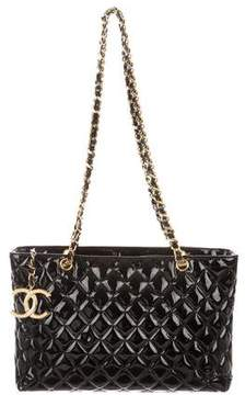 Chanel Patent Shopping Tote