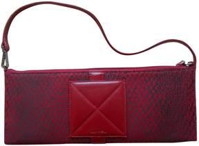Lancel Red Cloth Clutch Bag