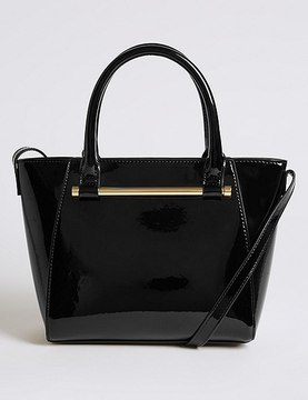 Marks and Spencer Faux Leather Patent Grab Tote Bag