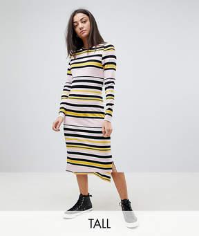 Noisy May Tall Striped Midi Dress