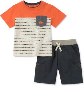 Kids Headquarters Little Boys 2-Pc. Striped Pocket T-Shirt & Shorts Set
