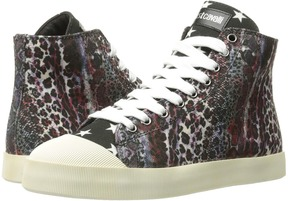 Just Cavalli Mixed Printed Canvas High Tops Women's Shoes