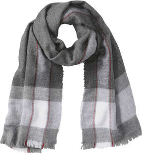 Joe Fresh Women's Check Scarf, Grey (Size O/S)