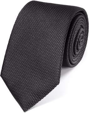 Charles Tyrwhitt Charcoal Silk Plain Classic Tie