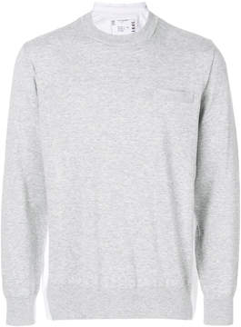 Sacai chest pocket sweater