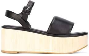 Robert Clergerie platform buckled sandals